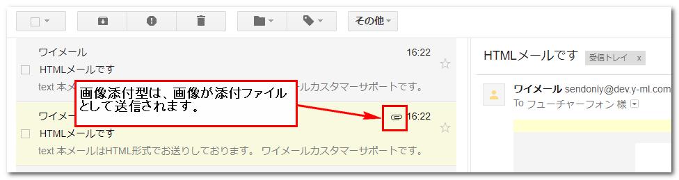 添付ファイル付きメールのイメージ