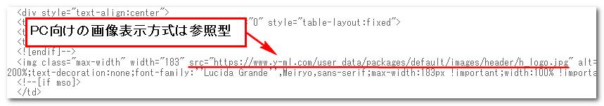 受信したメールのHTMLソース1
